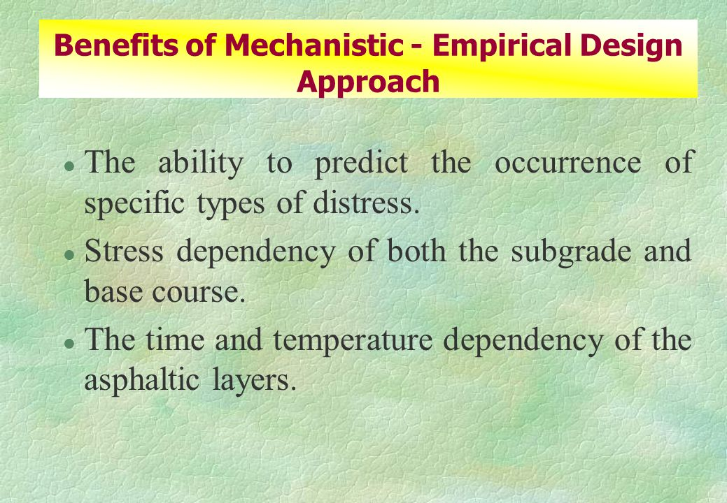 l The ability to predict the occurrence of specific types of distress.