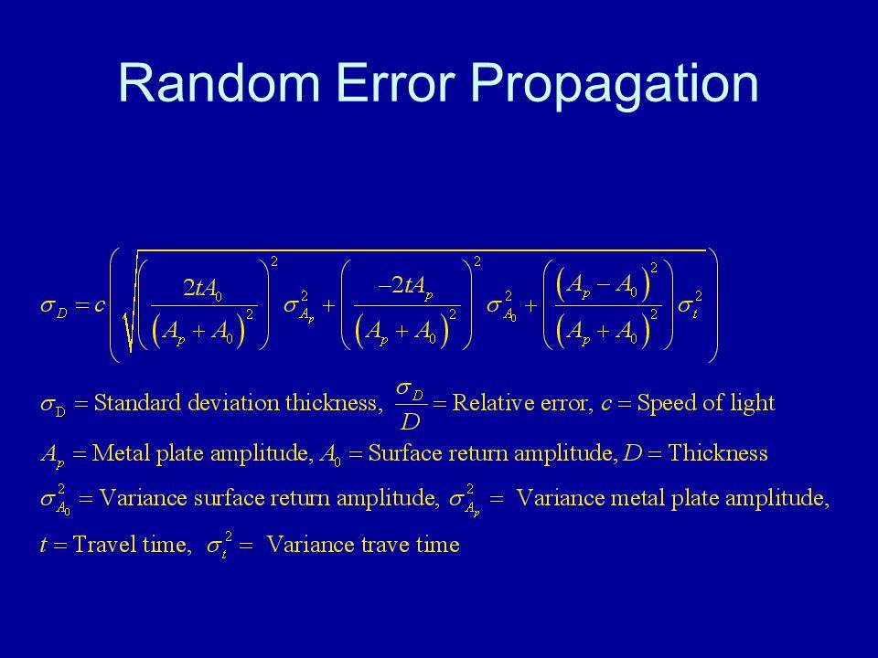 Random Error Propagation