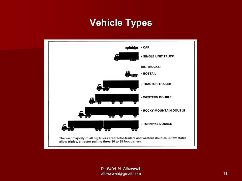 Dr. Wa'el M. Albawwab albawwab@gmail.com11 Vehicle Types
