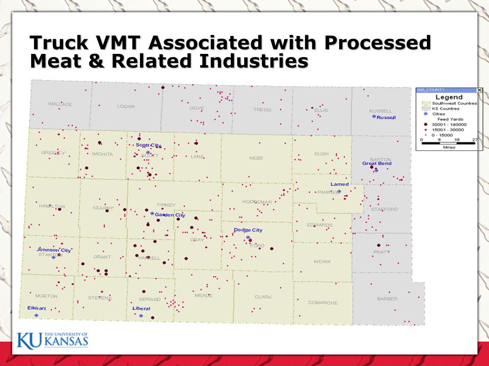 Truck VMT Associated with Processed Meat & Related Industries