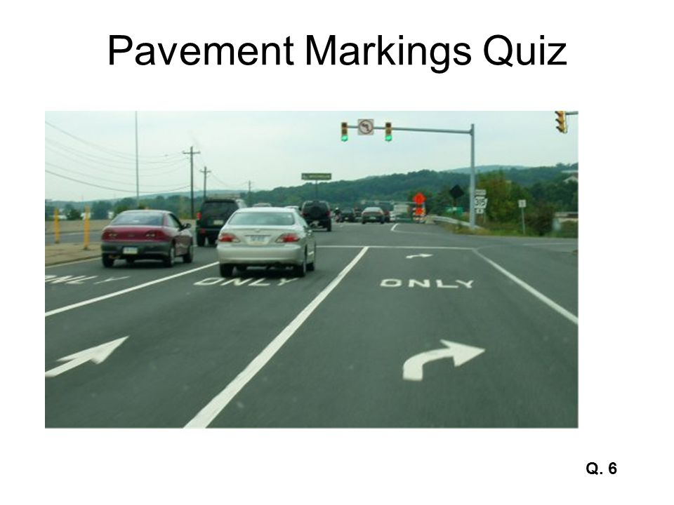 Pavement Markings Quiz Q. 27