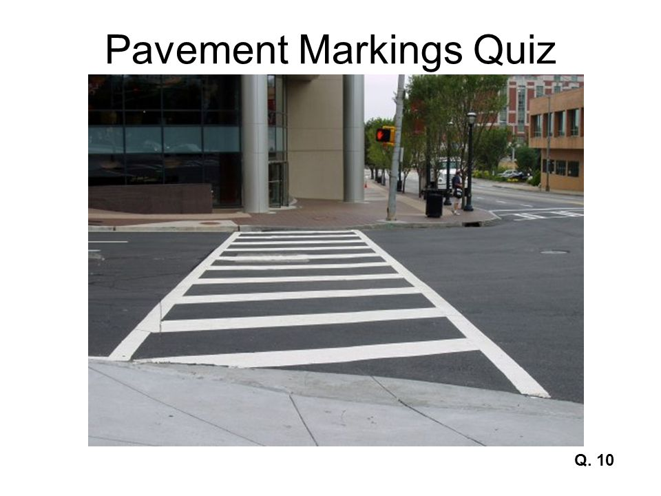 Pavement Markings Quiz Q. 11