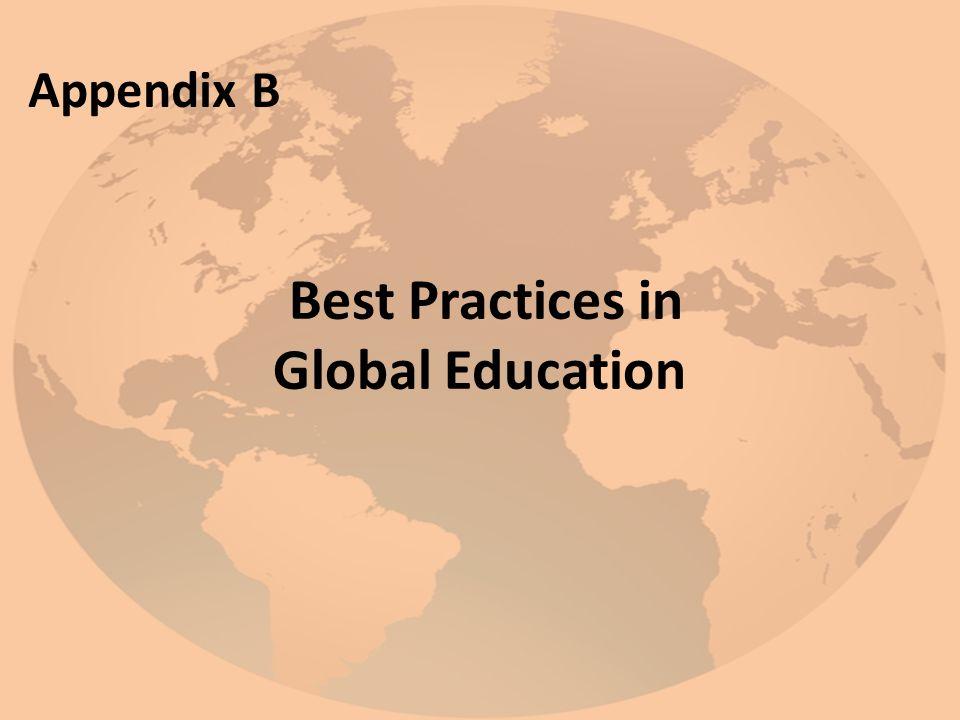 Best Practices in Global Education Appendix B