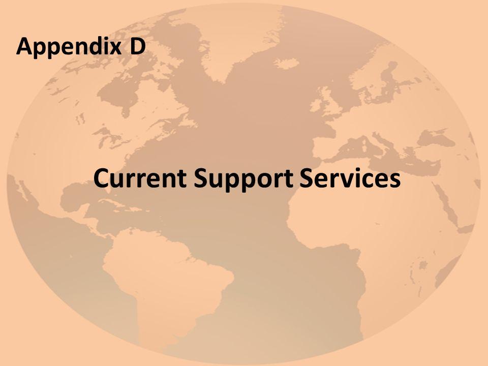 Current Support Services Appendix D