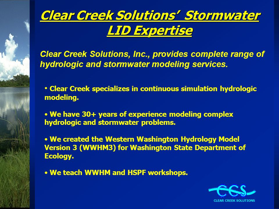 Presentation Introduction WWHM: Western Washington Hydrology Model Permeable Pavement Implicit Modeling Permeable Pavement Explicit Modeling Modeling Results Summary Questions & Answers