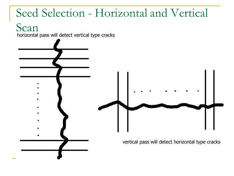Seed Selection - Horizontal and Vertical Scan