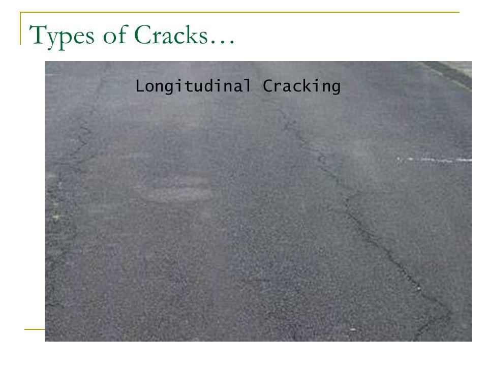 Types of Cracks… Longitudinal Cracking