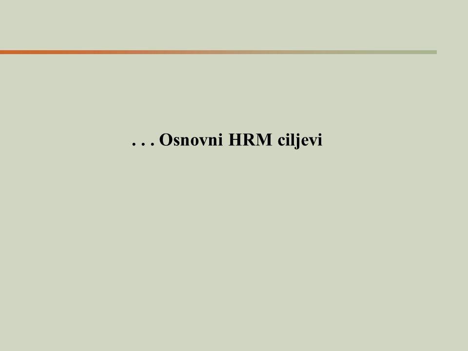 ... Osnovni HRM ciljevi