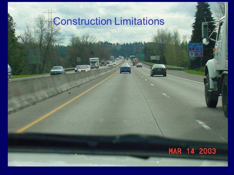 Construction Limitations