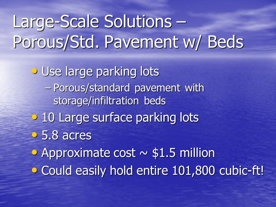 Large-Scale Solutions – Porous/Std.