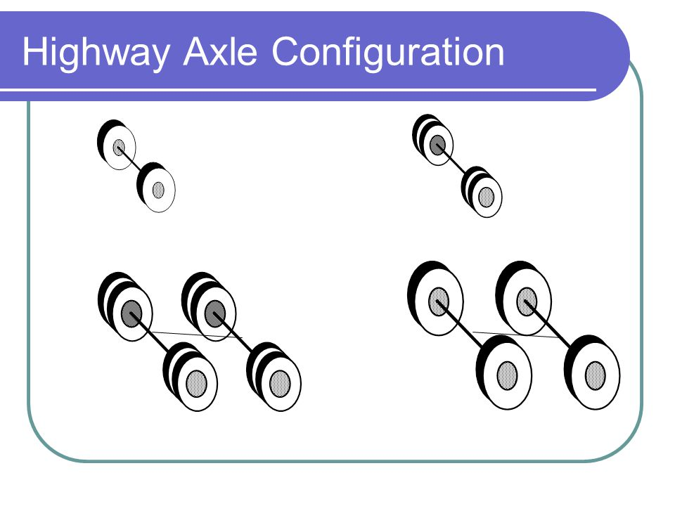 Highway Axle Configuration