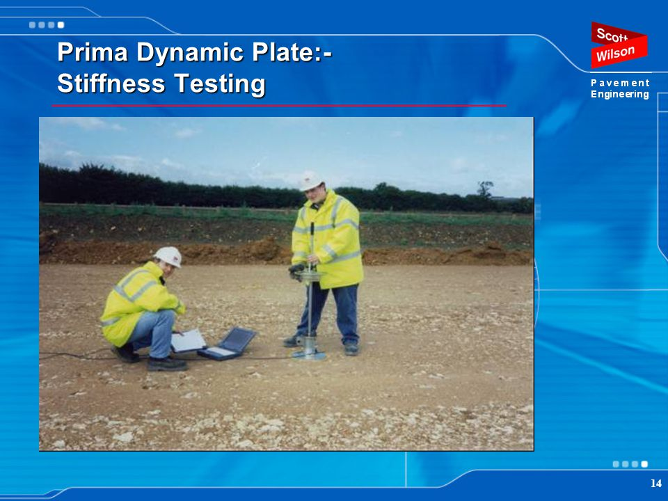 14 Prima Dynamic Plate:- Stiffness Testing