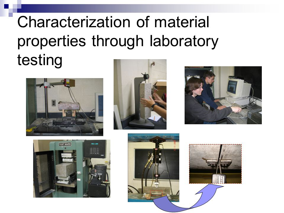 Characterization of material properties through laboratory testing
