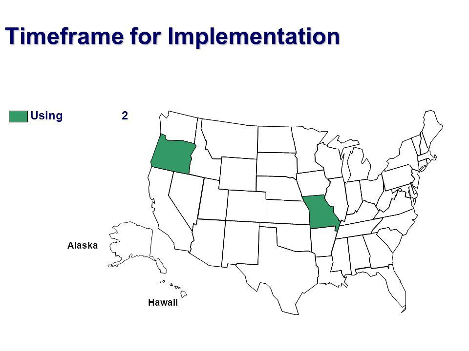 Hawaii Alaska Timeframe for Implementation Using 2
