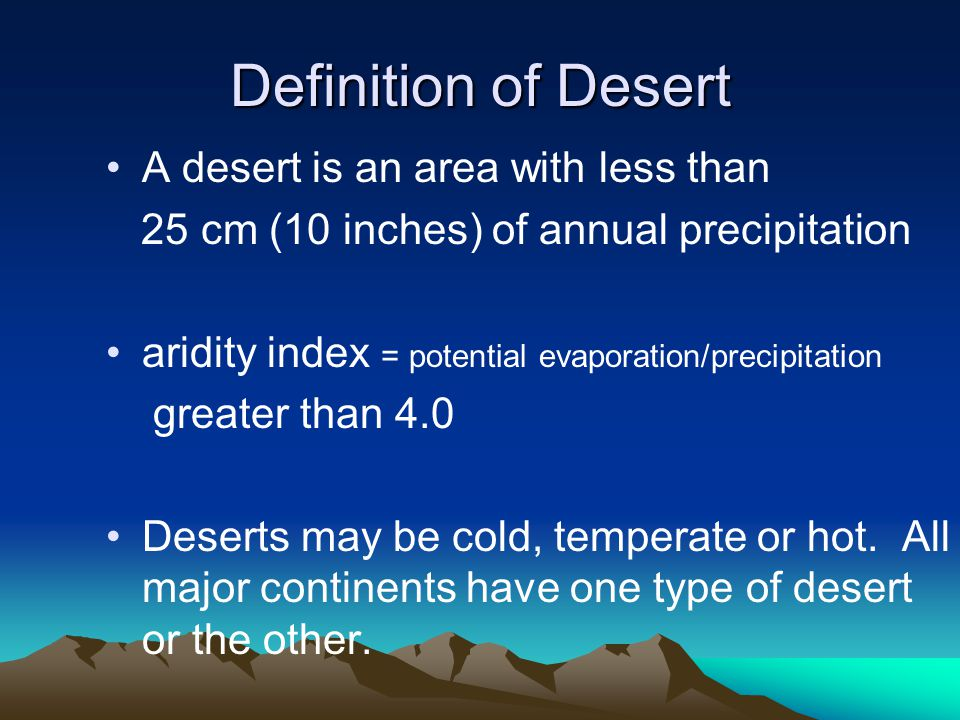 Chemical Weathering in Deserts