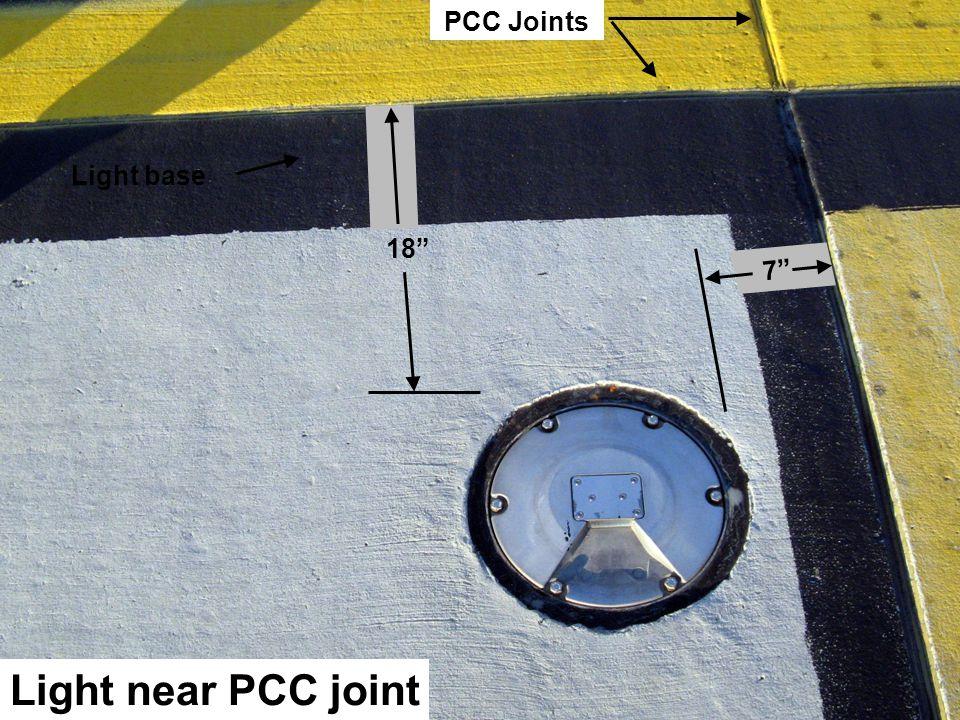 27 Light near PCC joint PCC Joints Light base 18 7
