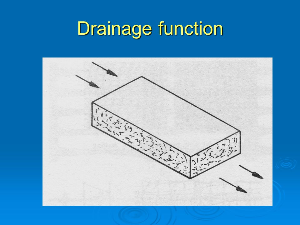 Drainage function