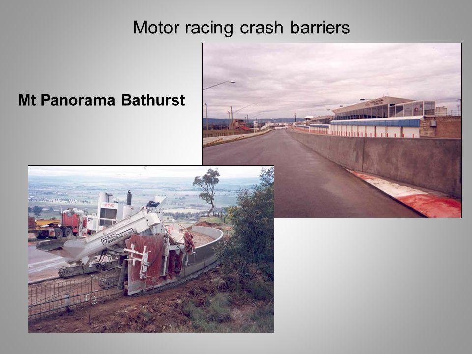 Motor racing crash barriers Mt Panorama Bathurst