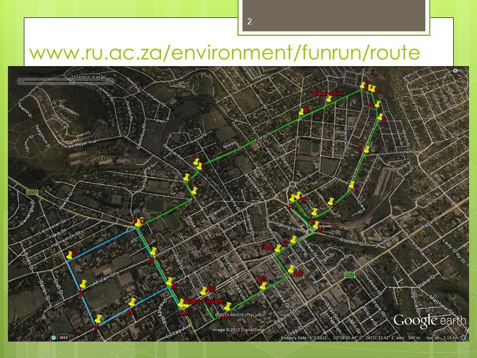 www.ru.ac.za/environment/funrun/route 2