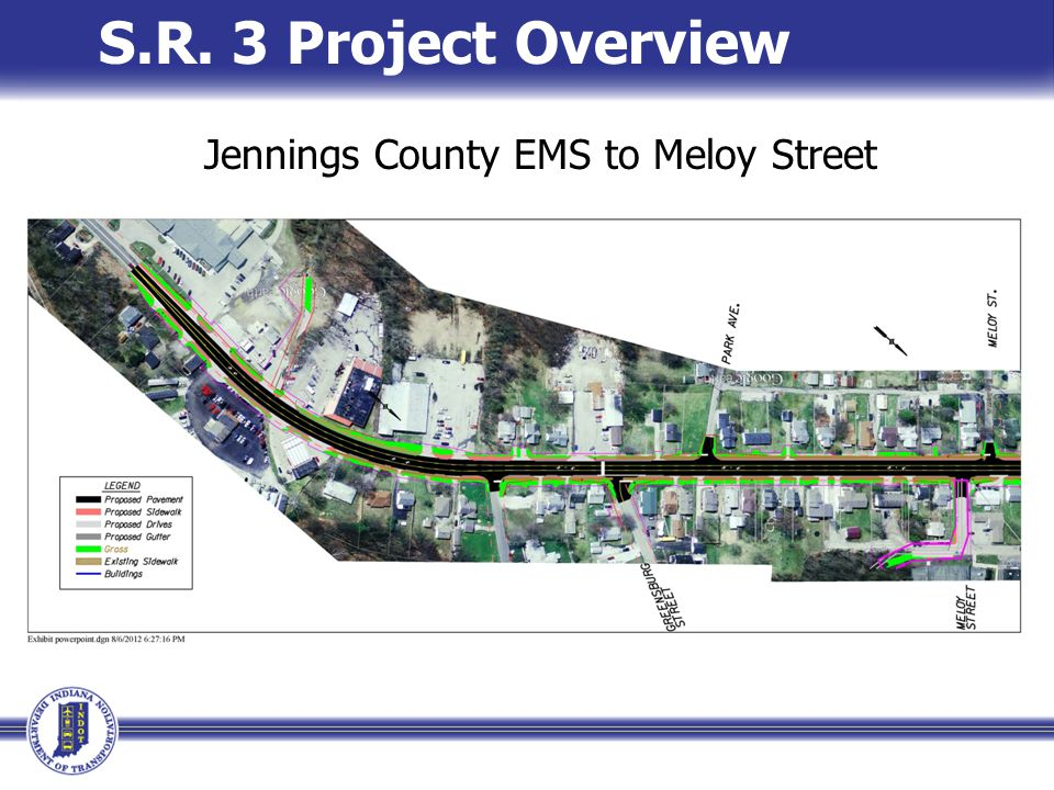 S.R. 3 Project Overview Jennings County EMS to Meloy Street