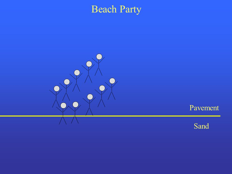 Beach Party Pavement Sand