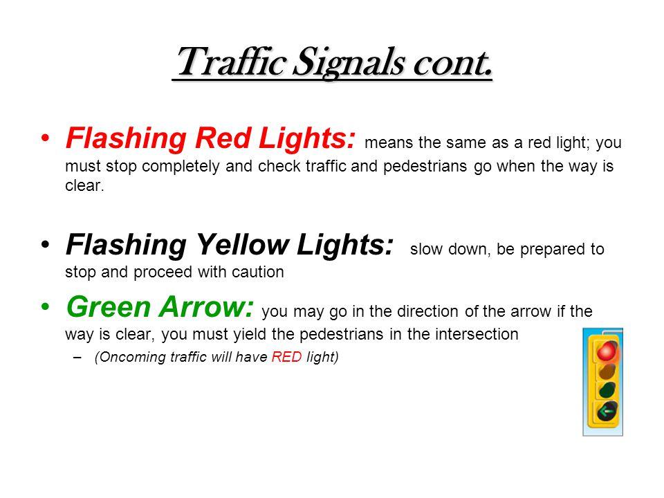 Traffic Signals cont.
