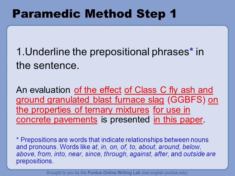 Paramedic Step 2 2.Circle the 'to be'* verbs.