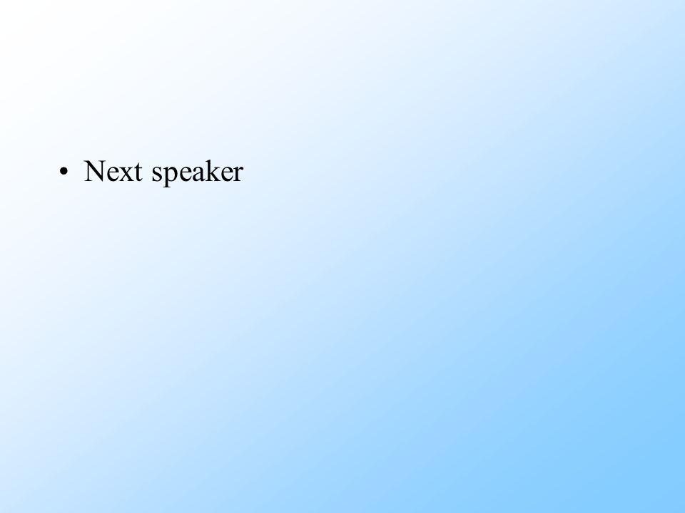 Next speaker