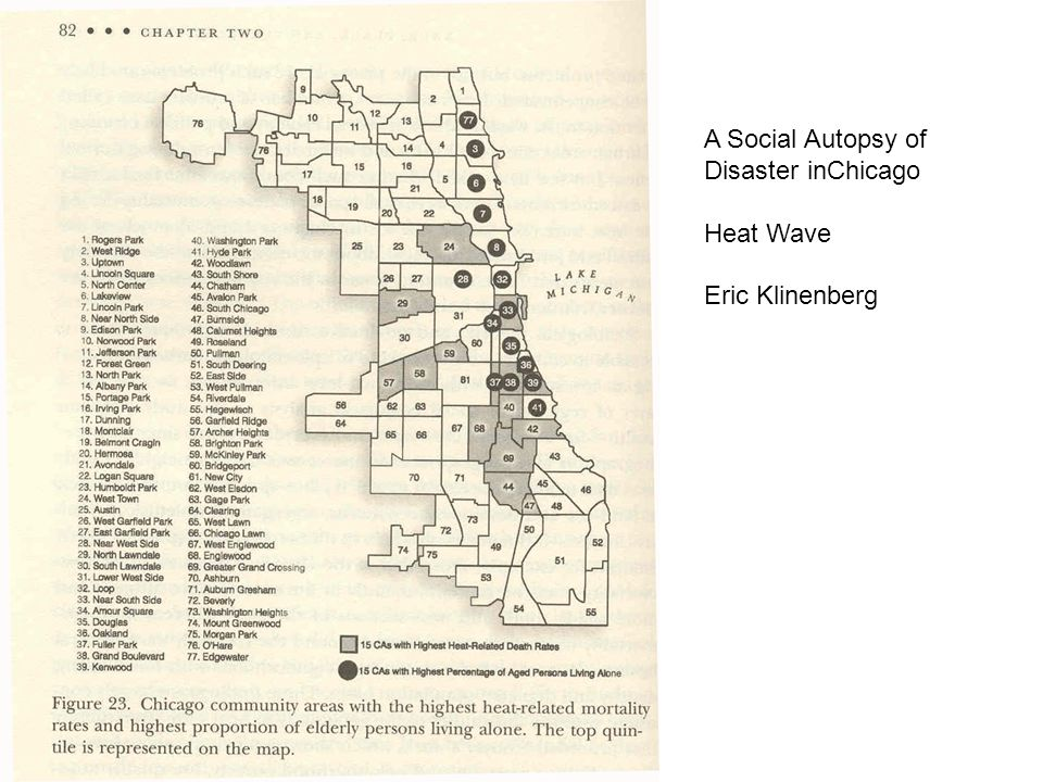 A Social Autopsy of Disaster inChicago Heat Wave Eric Klinenberg