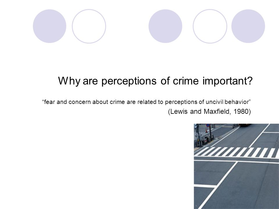 Why are perceptions of crime important.