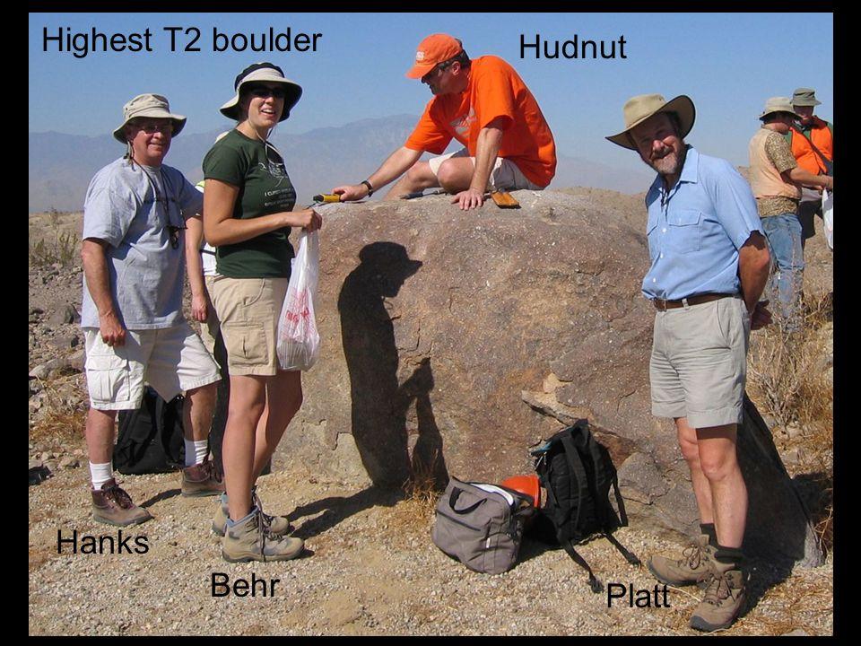 Highest T2 boulder Hanks Behr Hudnut Platt