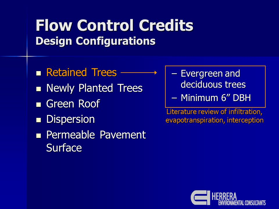 Retained Trees Retained Trees Newly Planted Trees Newly Planted Trees Green Roof Green Roof Dispersion Dispersion Permeable Pavement Surface Permeable