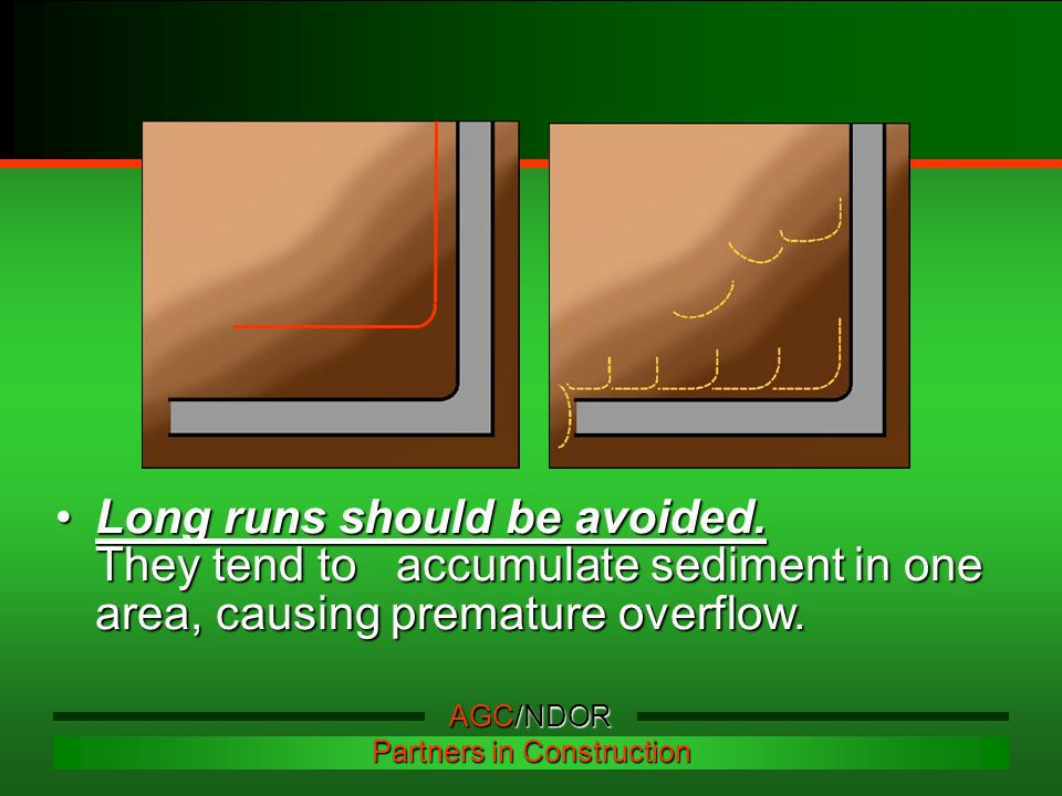 Long runs should be avoided.
