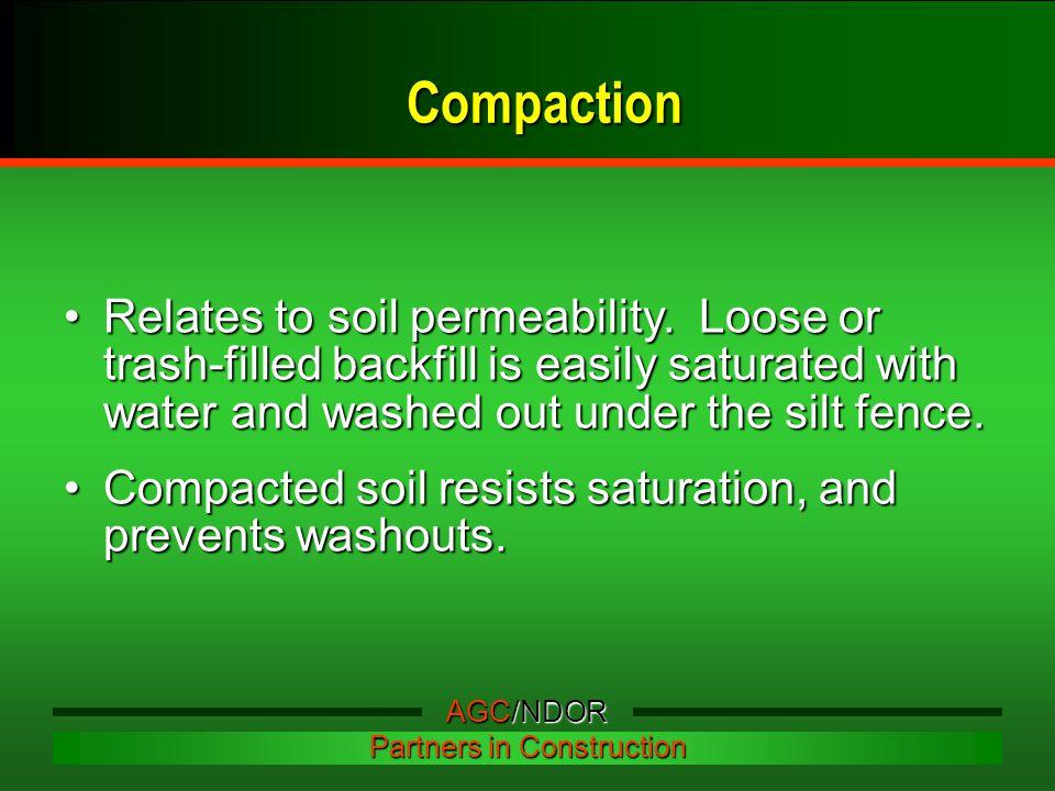 Relates to soil permeability.
