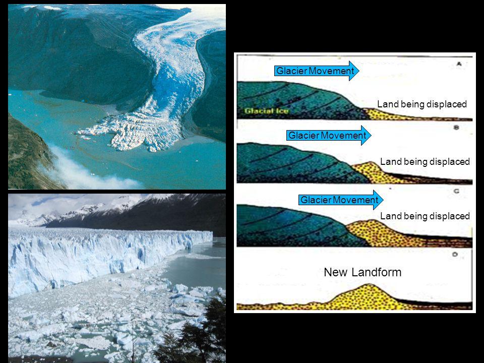 Glacier Movement New Landform Land being displaced