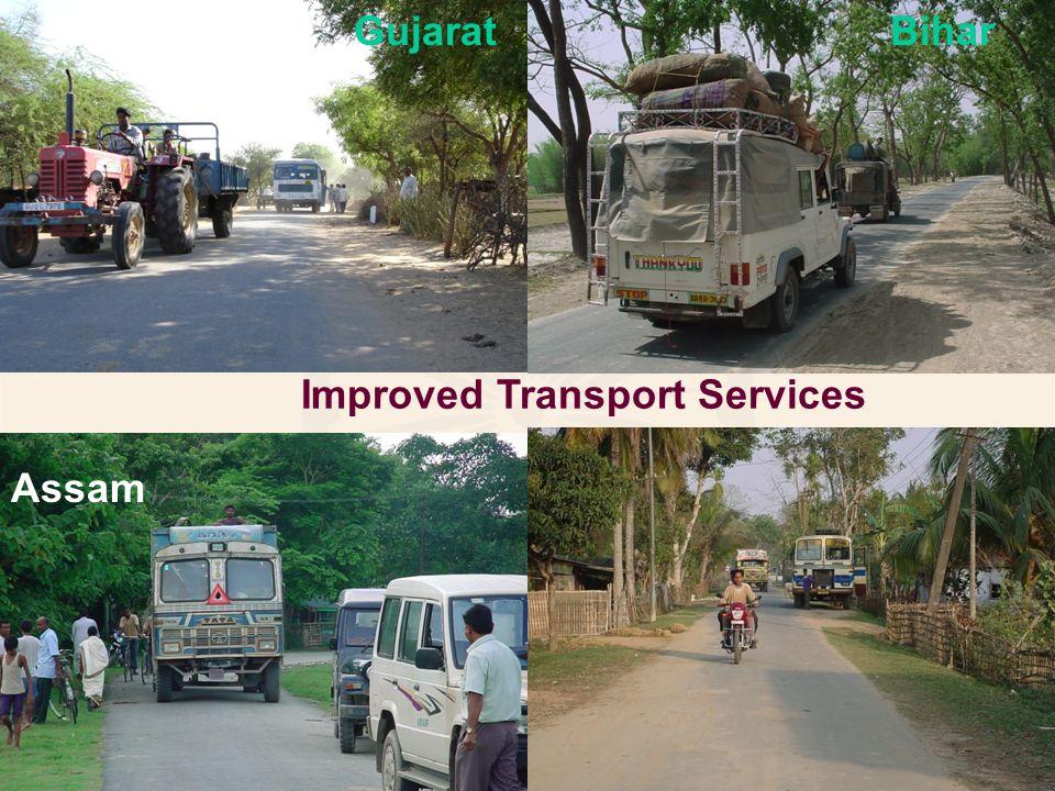 Improved Transport Services Bihar Assam Gujarat