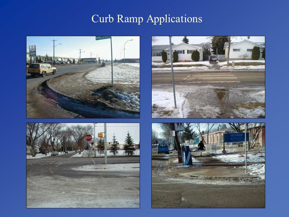 Curb Ramp Applications