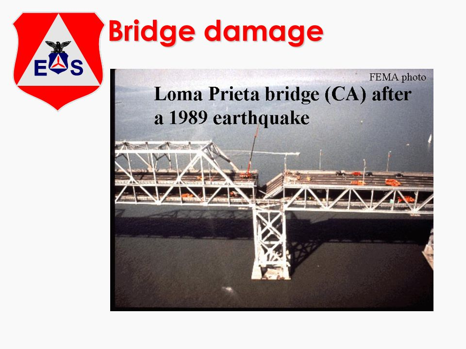Bridge damage