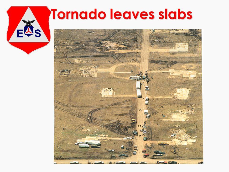 Tornado leaves slabs