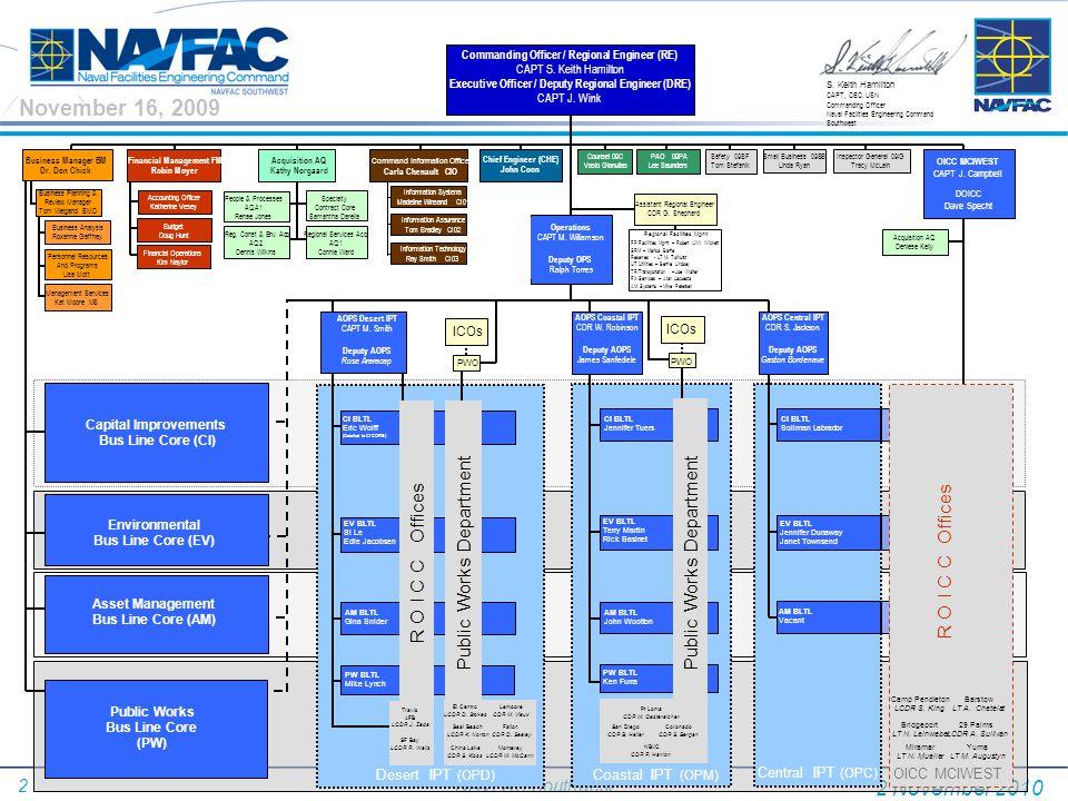 23 NAVFAC Southwest FY11 Military Construction P#InstallationProject TitlePkg Prog Amt ($000) 573MCAS YUMA AZINTERMEDIATE MAINT ACTIVITY FACILITY (JSF)-MCAS YUMA AZ$21,480 578MCAS YUMA AZVAN PAD RELOCATION (JSF)-MCAS YUMA AZ $15,590 583MCAS YUMA AZCOMMUNICATION INFRASTRUCTURE UPGRADE (JSF)-MCAS YUMA AZ$63,730 1014MCB CAMP PENDLETON CATRUCK COMPANY OPERATIONS COMPLEX-MCB CAMP PENDLETON CA $53,490 1043AMCB CAMP PENDLETON CATERTIARY TREATMENT/CONVEYANCE INC 2 OF 3 -MCB CAMP PENDLETON CA$30,000 1044MCB CAMP PENDLETON CACONVEYANCE/WATER TREATMENT-MCB CAMP PENDLETON CA $100,700 1109MCB CAMP PENDLETON CABACHELOR ENLISTED QUARTERS, LAS FLORES-MCB CAMP PENDLETON CA$37,020 1113MCB CAMP PENDLETON CABACHELOR ENLISTED QUARTERS, 24 AREA-MCB CAMP PENDLETON CA $42,864 1200MCB CAMP PENDLETON CAMARINE CORPS ENERGY INITIATIVE-MCB CAMP PENDLETON CA$9,950 310MCB CAMP PENDLETON CASMALL ARMS MAGAZINE, EDSON RANGE-MCB CAMP PENDLETON CA $3,760 750NAVBASE CORONADOROTARY HANGAR-NAVBASE CORONADO$67,160 401BNAVBASE POINT LOMAREPLACE FUEL STORAGE FACILITIES INC 3 OF 3-NAVBASE POINT LOMA $20,000 327NAVBASE SAN DIEGOBERTHING PIER 12 REPL & DREDGING -NAVBASE SAN DIEGO$108,414 405NAVBASE SAN DIEGOBACHELOR QUARTERS HOMEPORT ASHORE-NAVBASE SAN DIEGO $75,342 104 NAVBASE VENTURA CTY PT MUGU CA AIRCRAFT DIRECT FUELING STATIONS-NAVBASE VENTURA CTY PT MUGU CA$3,000 Total 29 Projects $1,221,455