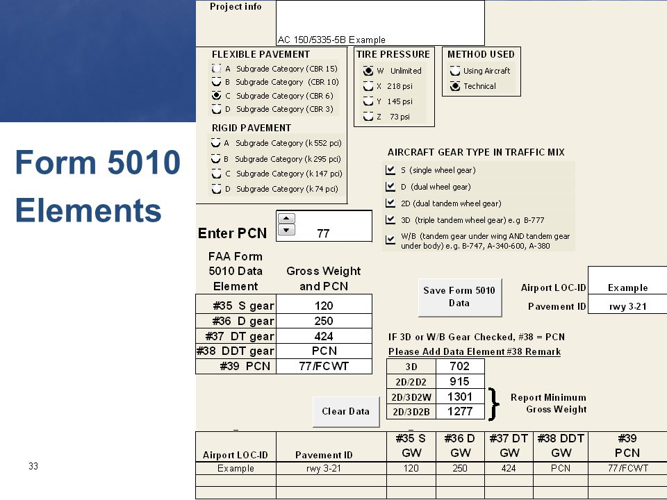 33 Form 5010 Elements