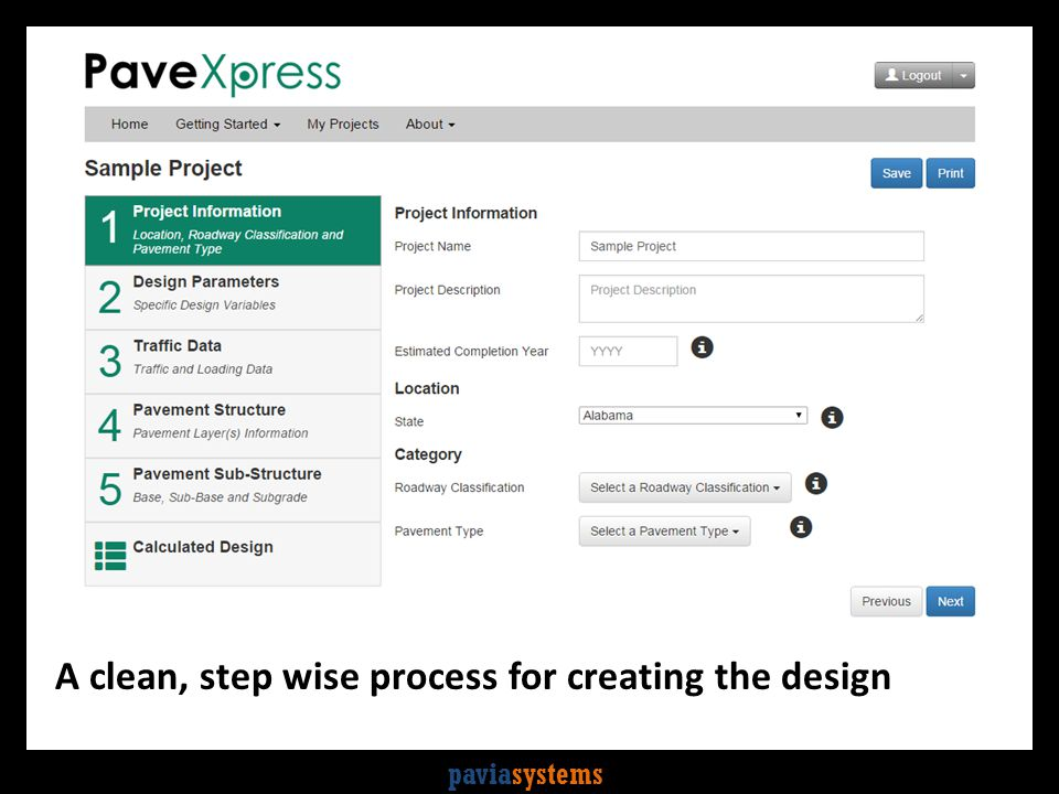paviasystems A clean, step wise process for creating the design