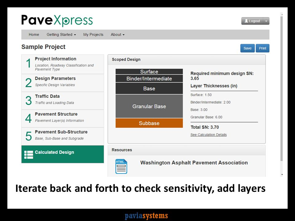 paviasystems Iterate back and forth to check sensitivity, add layers