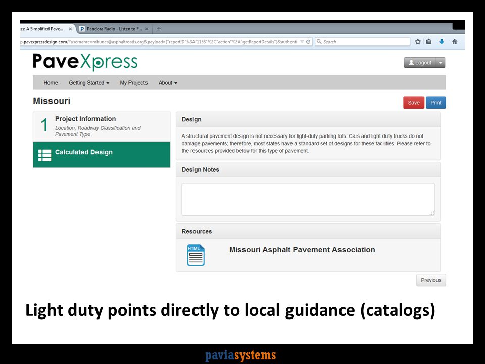 paviasystems Light duty points directly to local guidance (catalogs)