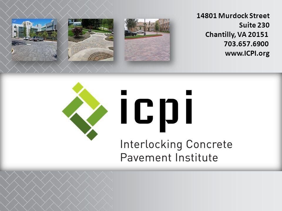 14801 Murdock Street Suite 230 Chantilly, VA 20151 703.657.6900 www.ICPI.org