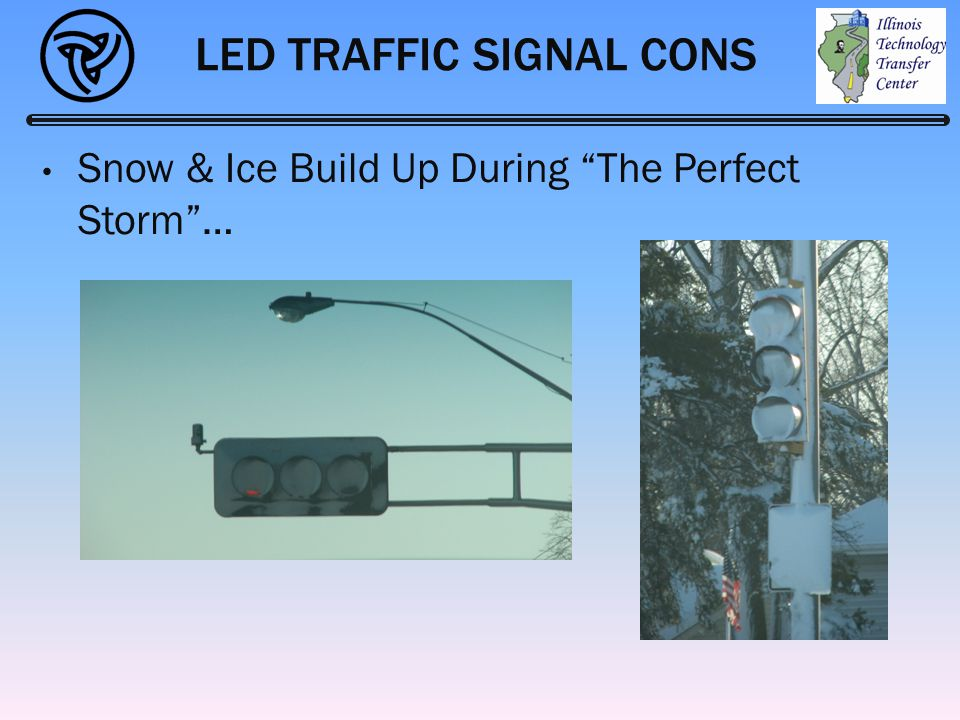 "LED TRAFFIC SIGNAL CONS Snow & Ice Build Up During ""The Perfect Storm""…"
