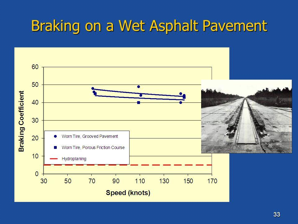 Braking on a Wet Asphalt Pavement 33
