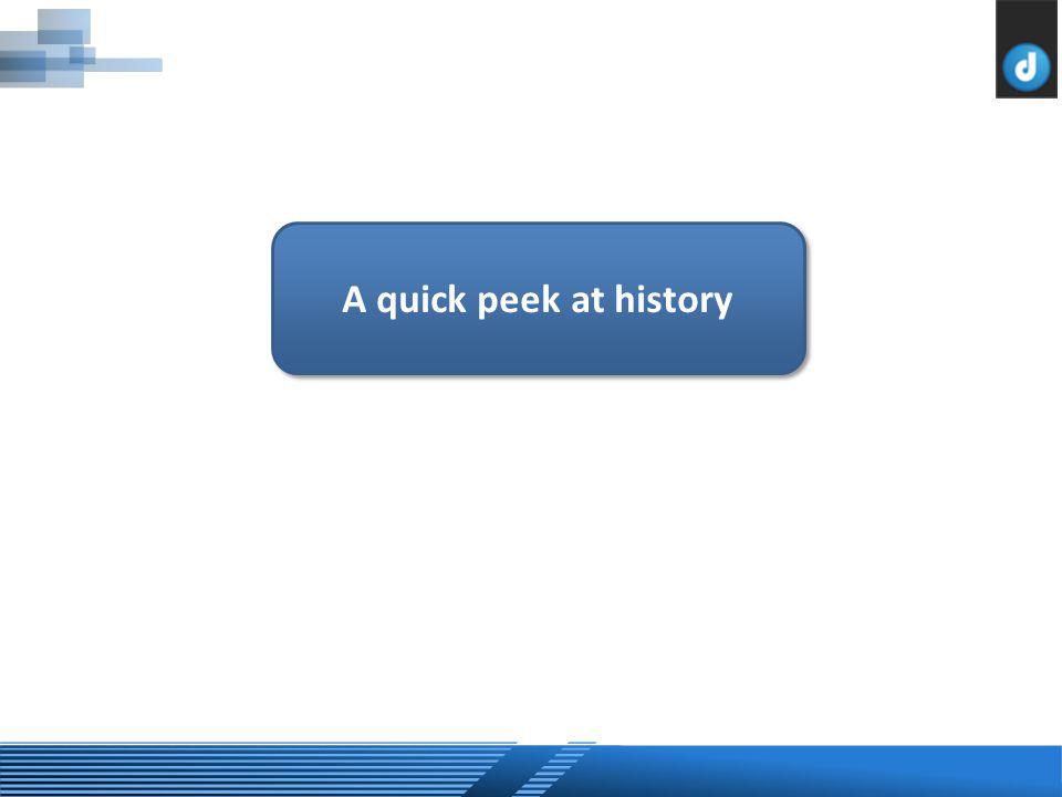 A quick peek at history
