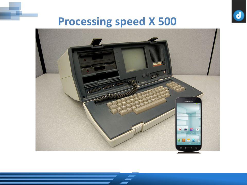 Processing speed X 500