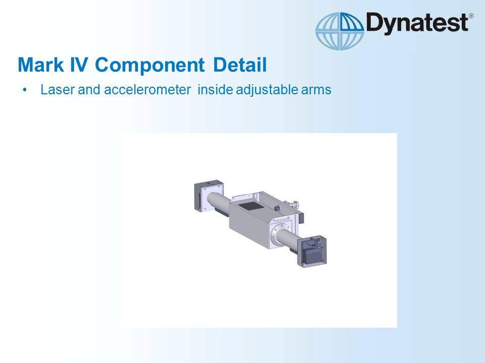 Mark IV Component Detail Laser and accelerometer inside adjustable arms